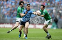 GAA Football All Ireland Senior Championship Quarter-Final, Croke Park, Dublin 2/8/2015. Dublin vs Fermanagh. Dublin\'s Diarmuid Connolly with Marty O\'Brien and Ruairi Corrigan of Fermanagh. Mandatory Credit ©INPHO/Donall Farmer