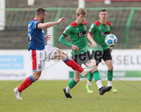 Danske Bank Premiership, The Oval, Belfast, Northern Ireland. 1/5/2021. Glentoran vs Linfield FC . Glentoran Rhys Marshall   and Linfield Jamie Mulgrew  . Mandatory Credit INPHO/Presseye/Brian Little