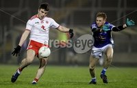 McKenna Cup, Kingspan Breffni Park, Co. Cavan 10/1/2018. Cavan vs Tyrone. Cavan's David Phillips with Lee Brennan of Tyrone. Mandatory Credit ©INPHO/Tommy Dickson