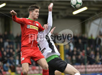 . Danske Bank Premiership, Solitude, Belfast 3/11/2018. Cliftonville vs Glentoran. Cliftonville\'s Jay Donnelly  in action with Glentorans Gallagher . Mandatory Credit INPHO/Stephen Hamilton
