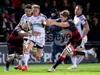 Guinness PRO14, Rodney Parade, Newport, Wales 1/12/2017. Dragons vs Ulster. Ulster\'s Craig Gilroy on the attack. Mandatory Credit ©INPHO/Bob Bradford