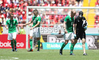 Press Eye - Belfast -  Northern Ireland - 03rd June 2018 - Photo by William Cherry/Presseye. Northern Ireland\'s Liam Boyce goes off injured during Sunday mornings International Friendly at the Nuevo Estadio Nacional de Costa Rica in San Jose.   Photo by William Cherry/Presseye