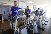 Press Eye - Belfast -  Northern Ireland - 31st May 2018 - Photo by William Cherry/Presseye. Northern Ireland\'s Aaron Hughes and Shane Ferguson during Thursday mornings recovery session at the team Hotel in San Jose, Costa Rica ahead of the International Friendly on the last leg of their tour of Central America.. Photo by William Cherry/Presseye
