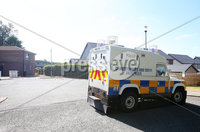 Press Eye - Belfast - Northern Ireland - 10th July 2018. The scene at Millmount Court in Banbridge were the body of man in his 50\'s was found late on Monday afternoon.  Police have launched an investigation and a 28-year-old man has been arrested.. Picture by Jonathan Porter/PressEye