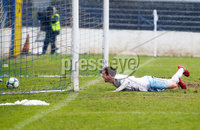 Danske Bank Premiership at Coleraine Showgrounds, Coleraine  09.03.2019. Coleraine FC Vs Ballymena United. . Ballymena\'s Andrew McGrory scores to make it 0-4 and gets a hat trick. . . Mandatory CreditINPHO/PressEye.com/Jonathan Porter.