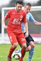 © Press Eye - Belfast - Northern Ireland 21st November 2015.. Danske Bank premiership.  Ballymena v Portadown.. Ballymena\'s Allan Jenkins. and Ports\' Michael Gault. during Saturday\'s match at The Showgrounds. Photo by TONY HENDRON/Presseye.