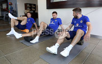Press Eye - Belfast -  Northern Ireland - 31st May 2018 - Photo by William Cherry/Presseye. Northern Ireland\'s Jonny Evans, Gareth McAuley and Stuart Dallas during Thursday mornings recovery session at the team Hotel in San Jose, Costa Rica ahead of the International Friendly on the last leg of their tour of Central America.. Photo by William Cherry/Presseye