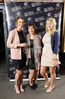 Press Eye - Belfast - Northern Ireland - Saturday 28th April 2012 -  Picture by Kelvin Boyes / Press Eye.. Secret Society at Ollies, Merchant Hotel. Susan Fairweather, Zoe Munro and Kat Dawson.