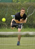 ©Russell Pritchard / Presseye  - 9th June 2012. Tennis : Ulster Senior Open at Belfast Boat Club.. Mens Doubles (A) Final between Gordan Watt / Matthew McClurg v Ben Featherston / Frasier McFall. Gordon Watt. ©Russell Pritchard / Presseye