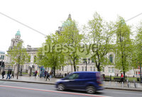 Press Eye - Belfast - Northern Ireland - 28th April 2019. General view of Donegall Square North in Belfast City Centre where a man in his sixties was assaulted on Saturday evening.  The attack took place around 7pm and involved a taser stun gun. . Picture by Jonathan Porter/PressEye