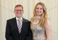 2 September 15 -   Picture by Darren Kidd / Press Eye.. Hillsborough Oyster Festival 2015:. Oyster Festival Musical Evening: The Ulster Youth Orchestra performing for the first time at Hillsborough International Oyster Festival along with the Portadown Male Voice Choir and soloist Zoe Jackson.. Pictured are David Faulkner and Zoe Jackson