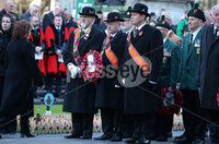 Press Eye - Belfast - Northern Ireland - 12th November 2017 . Members of the Orange Order lay a wreath at The Cenotaph in the Garden of Remembrance, City Hall Grounds, Belfast during the National Day of Remembrance . It is the city of Belfast's tribute to the memory of those who died in the Great War and the Second World War. . . Photo by Kelvin Boyes / Press Eye..