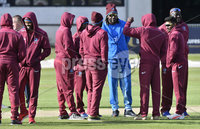 Turkish Airlines One Day International Challenge, Stormont, Belfast 13/9/2017. Ireland vs West Indies. West Indies\' Chris Gayle speaks with his teammates. Mandatory Credit ©INPHO/Rowland White