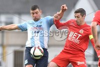 © Press Eye - Belfast - Northern Ireland 21st November 2015.. Danske Bank premiership.  Ballymena v Portadown.. Ballymena\'s Matthew Tipton. and Ports\' Keith OHara. during Saturday\'s match at The Showgrounds. Photo by TONY HENDRON/Presseye.