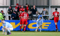 Danske Bank Premiership, Milltown Playing Fields, Newry 2/12/2017 . Warrenpoint Town vs Cliftonville. Cliftonville\'s Jay Donnelly celebrates his late goal. Mandatory Credit ©INPHO/Philip Magowan