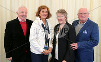 2 September 15 -   Picture by Darren Kidd / Press Eye.. Hillsborough Oyster Festival 2015:. Oyster Festival Musical Evening: The Ulster Youth Orchestra performing for the first time at Hillsborough International Oyster Festival along with the Portadown Male Voice Choir and soloist Zoe Jackson.. Pictured are Trevor and Evelyn Moffett with Suzie and Roy McNeill