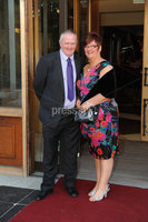 ©Press Eye Ltd Northern Ireland - 28th April 2012. Perfect Day 10th Anniversary at the Seagoe Hotel Portadown.. Mathew and Marion Sefton. Mandatory Credit - Picture by Stephen Hamilton /Presseye.com. .
