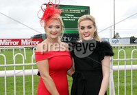 Press Eye © Belfast - Northern Ireland. Photo by Freddie Parkinson / Press Eye ©. Friday 8 September 2017. West Coast Cooler Race Evening at Down Royal Racecourse. Sarah Barrett and Caoimhe Magee from Moy.