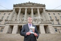 Press Eye Belfast - Northern Ireland 4th December 2017. Sinn Féin\'s National Chairperson Declan Kearney MLA pictured at Parliament Buildings, Stormont, where he launched the party\'s 'No return to the Status Quo' document. . Picture by Jonathan Porter/PressEye.com