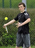 ©Russell Pritchard / Presseye  - 9th June 2012. Tennis : Ulster Senior Open at Belfast Boat Club.. Mens Doubles (A) Final between Gordan Watt / Matthew McClurg v Ben Featherston / Frasier McFall. Matthew McClurg. ©Russell Pritchard / Presseye