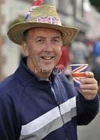 ©Russell Pritchard / Presseye  - 4th June 2012. Diamond Jubilee Street Party, Main Street Broughshane. Paul Young. ©Russell Pritchard / Presseye