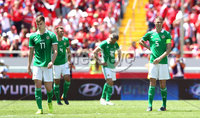 Press Eye - Belfast -  Northern Ireland - 03rd June 2018 - Photo by William Cherry/Presseye. Northern Ireland\'s players after Costa Rica score their second goal during Sunday mornings International Friendly at the Nuevo Estadio Nacional de Costa Rica in San Jose.   Photo by William Cherry/Presseye