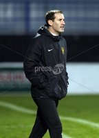 Mandatory Credit - Picture by Freddie Parkinson/Press Eye ©. Saturday 21st November 2015. NIFL Premiership. The Showgrounds, Coleraine.. Coleraine FC vs. Carrick Rangers FC. Carrick\'s Manager Gary Haveron