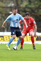 © Press Eye - Belfast - Northern Ireland 21st November 2015.. Danske Bank premiership.  Ballymena v Portadown.. Ballymena\'s Matthew Tipton. and Ports\' Ken Oman. during Saturday\'s match at The Showgrounds. Photo by TONY HENDRON/Presseye.