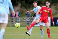 Danske Bank Premiership, Milltown Playing Fields, Newry 2/12/2017 . Warrenpoint Town vs Cliftonville. Warrenpoint\'s TJ Murray and Cliftonville\'s Jay Donnelly. Mandatory Credit ©INPHO/Philip Magowan