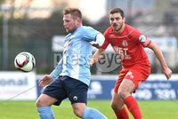 © Press Eye - Belfast - Northern Ireland 21st November 2015.. Danske Bank premiership.  Ballymena v Portadown.. Ballymena\'s David Cushley. and Ports\' Chris Ramsey. during Saturday\'s match at The Showgrounds. Photo by TONY HENDRON/Presseye.