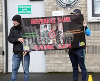 "Mandatory Credit - Picture by Freddie Parkinson/Press Eye ©. Saturday 11 November 2017. A planned protest by Republican Sinn Fein (RSF) on Armistice Day at Lurgan police station has been branded ""antagonistic"" and ""shameful"". The republican party called for the protest on November 11 to show ""opposition"" to what it described as harassment of their members by local police.. PSNI Chief Inspector Jon Burrows said: ""We are aware of these reports and are monitoring the situation."""