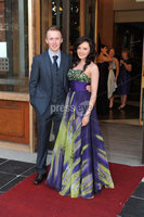 ©Press Eye Ltd Northern Ireland - 28th April 2012. Perfect Day 10th Anniversary at the Seagoe Hotel Portadown.. Sean Quinn,Niamh McKee. Mandatory Credit - Picture by Stephen Hamilton /Presseye.com. .