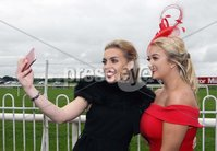 Press Eye © Belfast - Northern Ireland. Photo by Freddie Parkinson / Press Eye ©. Friday 8 September 2017. West Coast Cooler Race Evening at Down Royal Racecourse. Caoimhe Magee and Sarah Barrett from Moy.