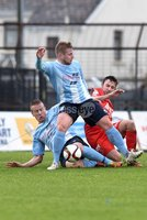 © Press Eye - Belfast - Northern Ireland 21st November 2015.. Danske Bank premiership.  Ballymena v Portadown.. Ballymena\'s David Cushley and Allan Jenkins. and Ports\' Michael Gault. during Saturday\'s match at The Showgrounds. Photo by TONY HENDRON/Presseye.