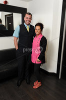 ©Press Eye Ltd Northern Ireland - 4th May 2012. Therapie Clinic Londonderry.. Barry Burke and Tara Rodgers. Mandatory Credit - Picture by Stephen Hamilton /Presseye.com. .