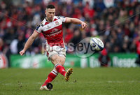 European Rugby Champions Cup Round 5, Kingspan Stadium, Belfast 13/1/2018. Ulster vs La Rochelle. Ulster\'s John Cooney kicks a conversion. Mandatory Credit ©INPHO/Ryan Byrne