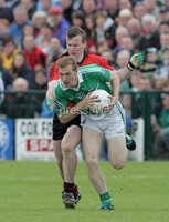 Presseye Northern Ireland - 03rd June 2012 Mandatory Credit - Photo-William Cherry/Presseye. Fermanagh\'s Tommy McElroy with Daniel McCartan Down\'s during Sundays Ulster Senior  Championship Quarter Final at Brewster Park, Enniskillen.