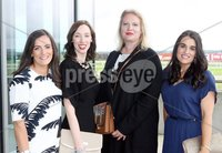 Press Eye © Belfast - Northern Ireland. Photo by Freddie Parkinson / Press Eye ©. Friday 8 September 2017. West Coast Cooler Race Evening at Down Royal Racecourse. Helen Malone, Grace O\'Neill, Mackey, Olesja Martinova and Derdie Magee