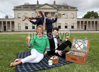 Press Eye - Belfast -  Northern Ireland - 17th May 2017 - Photo by William Cherry. Helping to launch this year\'s BBC Proms in the Park at Castle Coole, outside Enniskillen earlier today were Claire McCollum, who will be co-presenting the event with Noel Thompson, young Fermanagh-born pianist, Oisin McManus and Matthew and Cornelia from St Lawrence\'s Primary School Choir, Fintona, who recently won the BBC Radio Ulster School Choir of the Year. This year\'s BBC Proms in the Park is being held in the grounds of the National Trust property on Saturday 9 September, with support from Fermanagh and Omagh District Council and Tourism Northern Ireland.