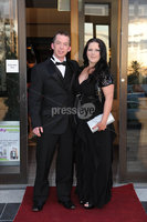 ©Press Eye Ltd Northern Ireland - 28th April 2012. Perfect Day 10th Anniversary at the Seagoe Hotel Portadown.. Kevin McGibbon,Sonya Topping. Mandatory Credit - Picture by Stephen Hamilton /Presseye.com. .