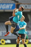 Ireland Rugby Captain\'s Run, Eden Park, Auckland, New Zealand 8/6/2012. Fergus McFadden supported by Andrew Trimble during the captains run. Mandatory Credit ©INPHO/Billy Stickland