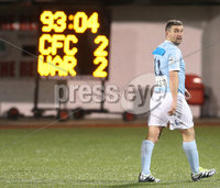 Press Eye - Belfast - 6th January 2018  . Cliftonville v Warrenpiont Town, Tennents Irish Cup 5th round at Solitude, North Belfast.. Warrenpiont Town\'s Matthew Tipton leave the pitch after receiving a red card. Picture by Matt Mackey / Inpho.ie