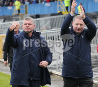 @Press Eye Ltd Northern Ireland -7th May    2012. Mandatory Credit - Brian Little/ Presseye.com. . Glasgow Rangers manager Ally McCoist  (right) and Iain Durrant after   a fundraising match on May Day at Windsor Park.