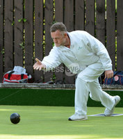 Mandatory Credit: Rowland White/Presseye. Bowls: Inter-Association . Teams: Private Greens League (red and white) v Provincial Bowling Association (white). Venue: Belmont. Date: 2nd June 2012. Caption: Alastair Steele, Provincial
