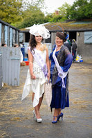 Winner of the Best Dressed Lady at Balmoral Show 2012 Rachaelle Liggett with runner up Angela O\'Rourke