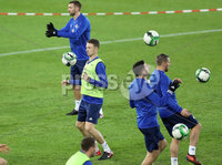 Press Eye - Belfast -  Northern Ireland - 11th November 2017 - Photo by William Cherry/Presseye. Northern Ireland\'s Jonny Evans during Saturday nights training session at St. Jakob-Park ahead of Sunday nights World Cup Play Off against Switzerland in Basel.