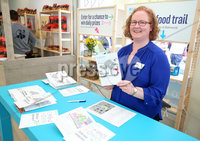 Press Eye - Belfast - Northern Ireland - 15th May 2019. First day of the Balmoral Show, in partnership with Ulster Bank.  Pictured at Balmoral Park, outside Lisburn, is Ulster Banks Catherine McMullan at the start of Ulster Bank\'s Food Trail .  Customers can visit different stands in the food hall getting their cards stamp which can be entered into a free draw. . . Picture by Jonathan Porter/PressEye. .
