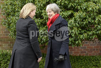 . Press Eye - Belfast - Northern Ireland - 12th February 2018 - . Talks at Stormont House, Belfast . Secretary of State for Northern Ireland Karen Bradley pictured at Stormont House Belfast as she welcomes Prime Minister Theresa May ahead of todays talks.. Photo by Stephen Hamilton / Press Eye..