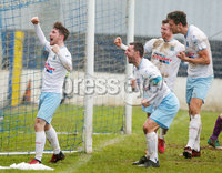 Danske Bank Premiership at Coleraine Showgrounds, Coleraine  09.03.2019. Coleraine FC Vs Ballymena United. . Ballymena celebrates after Andrew McGrory scores to make it 0-4 and gets a hat trick. . . Mandatory CreditINPHO/PressEye.com/Jonathan Porter.