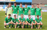 Press Eye Belfast - Northern Ireland 7th September 2018. U19 International Challenge Match - Northern Ireland Vs Slovakia at The Showgrounds, Newry.. Northern Ireland line out at the start of the match. . Picture by Jonathan Porter/PressEye.com